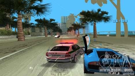 Skoda Octavia 2005 for GTA Vice City inner view