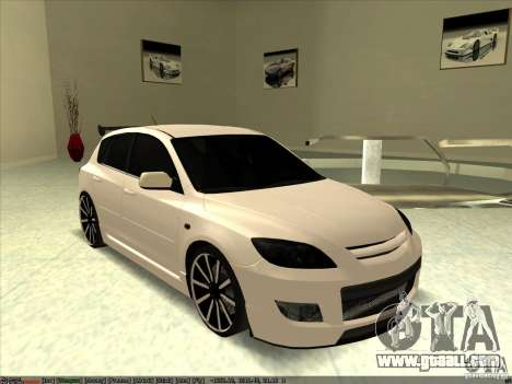 Mazda Speed 3 Stance v.2 for GTA San Andreas
