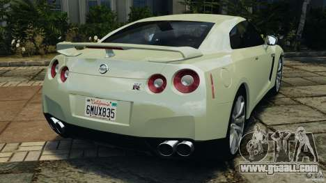 Nissan GT-R 2012 Black Edition for GTA 4 back left view