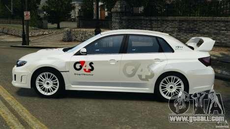 Subaru Impreza WRX STi 2011 G4S Estonia for GTA 4 right view