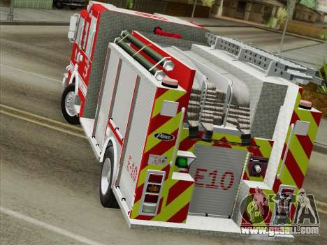 Pierce Saber LAFD Engine 10 for GTA San Andreas inner view