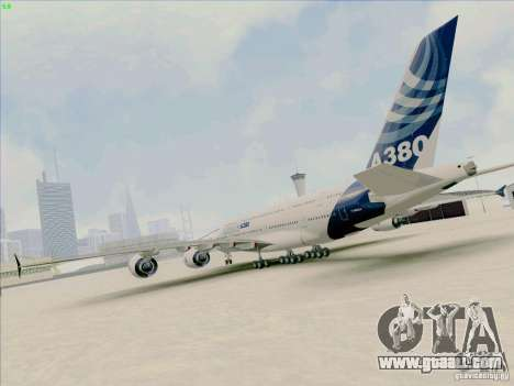 Airbus A380-800 for GTA San Andreas left view