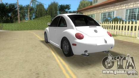 VW New Beetle for GTA Vice City back view