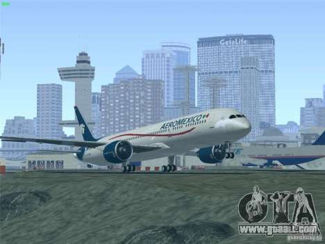 Boeing 787-8 Dreamliner AeroMexico for GTA San Andreas bottom view