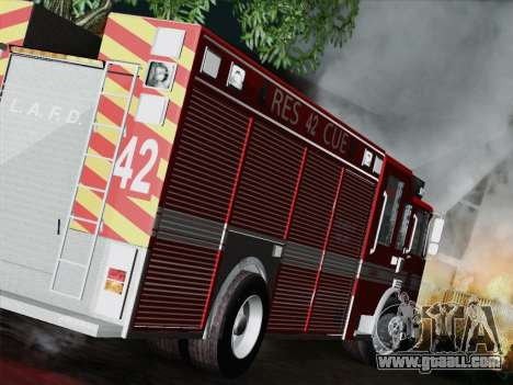 Pierce Contender LAFD Rescue 42 for GTA San Andreas right view