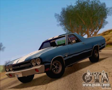Chevrolet EL Camino SS 70 for GTA San Andreas back view