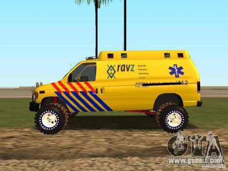 Ford E-150 for GTA San Andreas back view