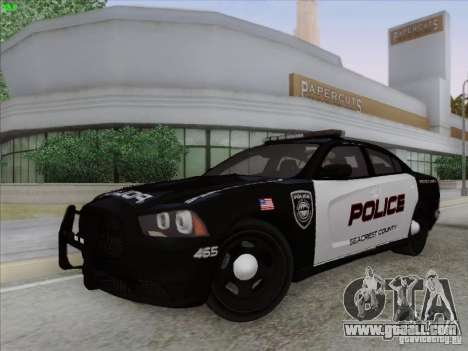 Dodge Charger 2012 Police for GTA San Andreas inner view