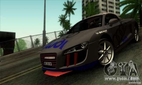 Audi R8 Spyder Tunable for GTA San Andreas inner view