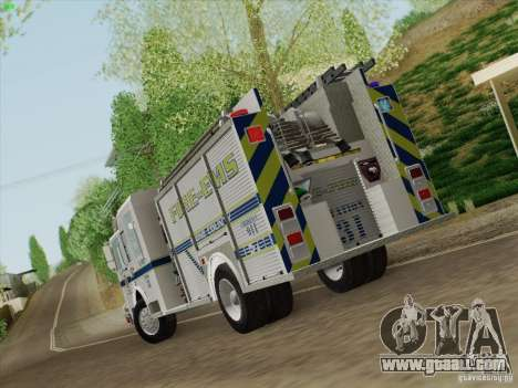 Pierce Pumpers. B.C.F.D. FIRE-EMS for GTA San Andreas right view