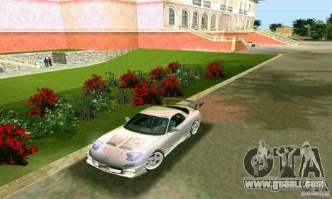 Mazda RX7 tuning for GTA Vice City back left view