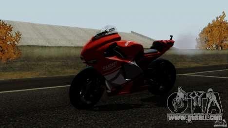 Ducati Desmosedici RR for GTA San Andreas back left view