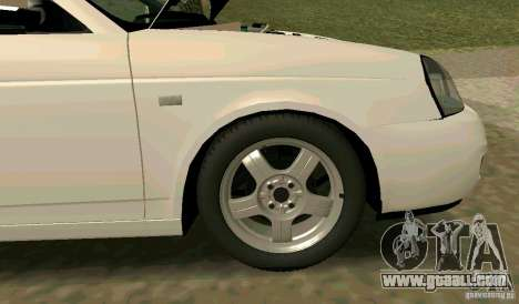 Vaz-2170 for GTA San Andreas bottom view
