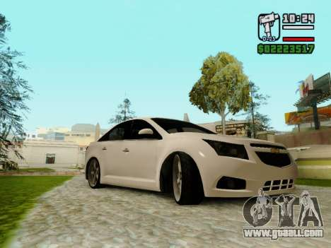 Chevrolet Cruze for GTA San Andreas back left view