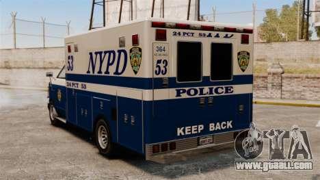 New van police for GTA 4 back left view