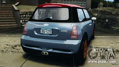 Mini Cooper S v1.3 for GTA 4 back left view