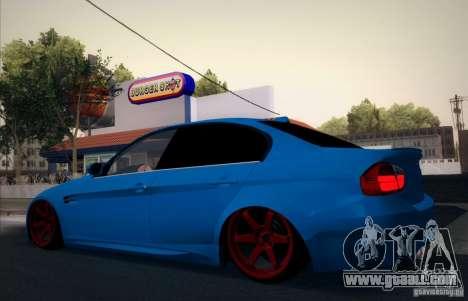BMW M3 E90 for GTA San Andreas upper view