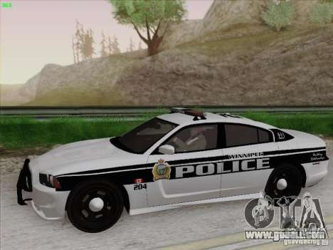 Dodge Charger 2012 Police for GTA San Andreas back left view