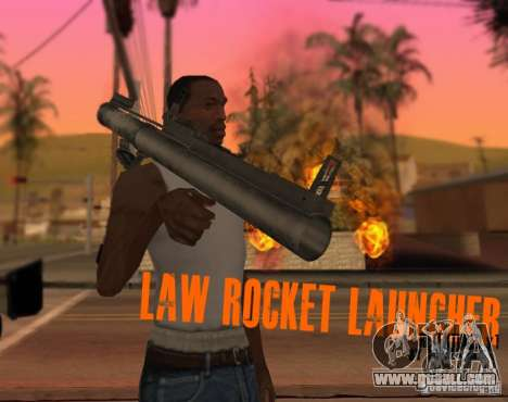 LAW Rocket Launcher Retextured for GTA San Andreas second screenshot
