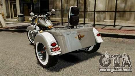 Harley-Davidson Trike for GTA 4 back left view