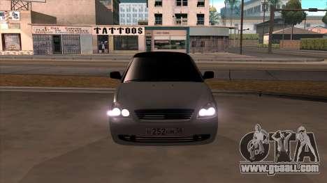 Lada Priora for GTA San Andreas back view