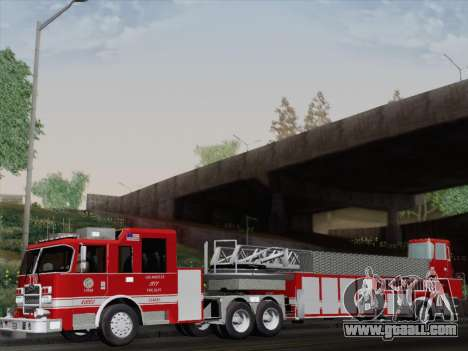 Pierce Arrow XT LAFD Tiller Ladder Truck 10 for GTA San Andreas back view