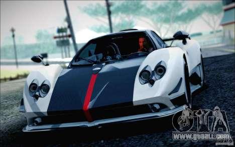 Pagani Zonda Cinque Roadster 2009 for GTA San Andreas back left view