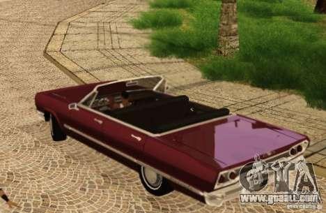 Savanna Detroit 1965 for GTA San Andreas back view
