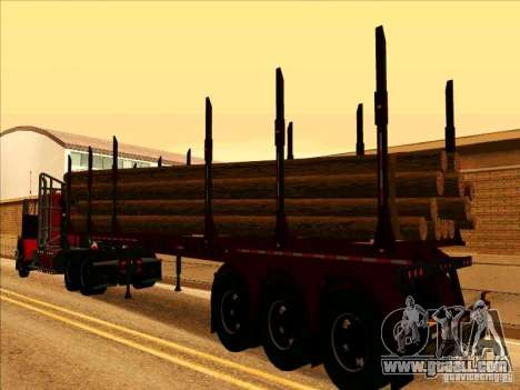 Trailer, Western Star 4900 for GTA San Andreas right view
