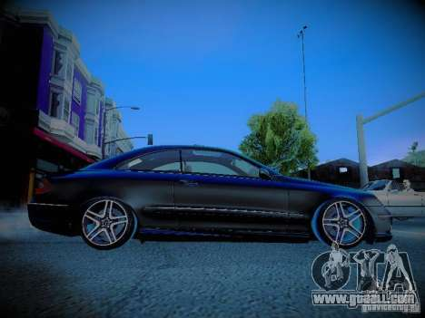 Mercedes-Benz CLK 55 AMG Coupe for GTA San Andreas inner view