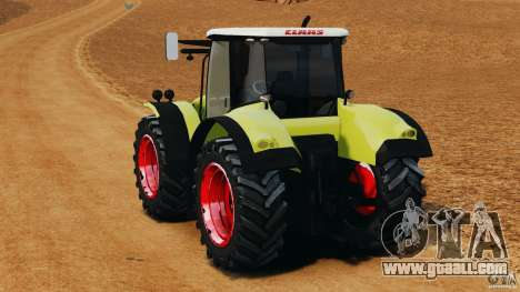 Claas Axion 850 for GTA 4 back left view