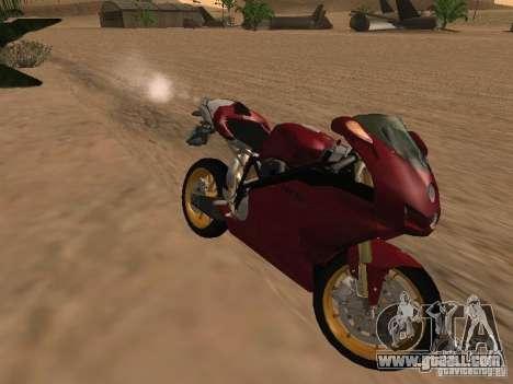 Ducati 999R for GTA San Andreas inner view