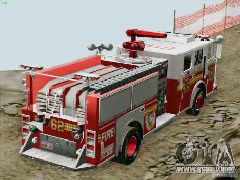 Seagrave Marauder II Engine 62 SFFD for GTA San Andreas upper view
