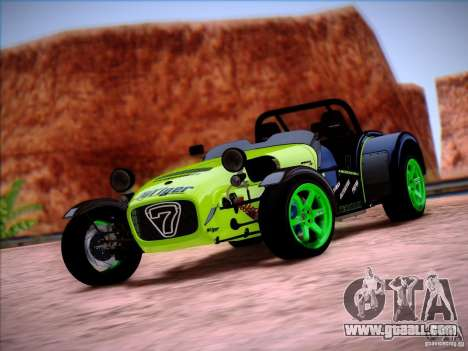 Caterham Superlight R500 for GTA San Andreas left view