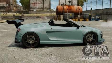 Audi R8 Spider Body Kit for GTA 4 left view