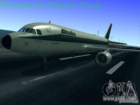 Airbus A320-214 Alitalia v.1.0 for GTA San Andreas wheels