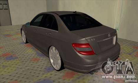 Mercedes-Benz C63 Dub for GTA San Andreas right view