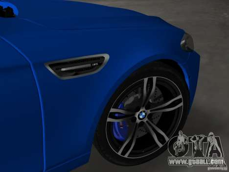 BMW M5 F10 2012 for GTA Vice City upper view