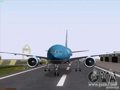 Boeing 777-2Q8ER Vietnam Airlines for GTA San Andreas back view