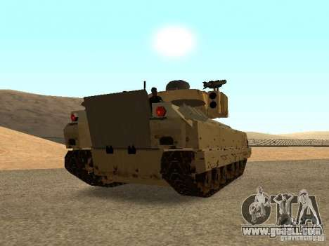 M2A3 Bradley for GTA San Andreas back left view