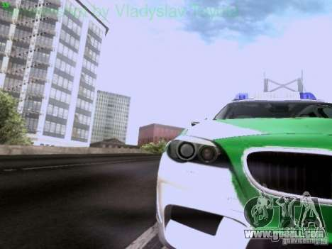 BMW M5 Touring Polizei for GTA San Andreas inner view