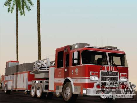 Pierce Arrow XT LAFD Tiller Ladder Truck 10 for GTA San Andreas bottom view