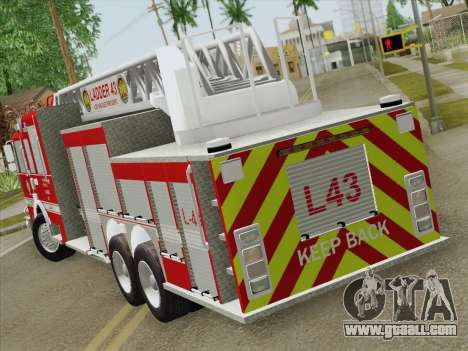 Pierce Arrow LAFD Ladder 43 for GTA San Andreas right view