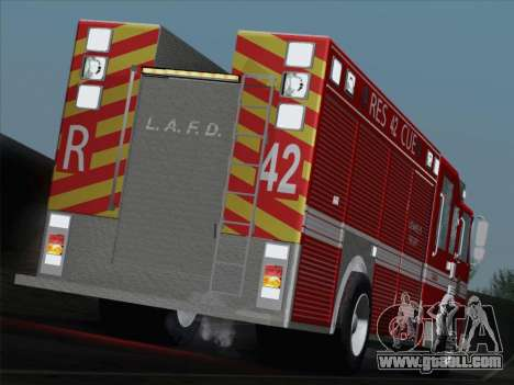 Pierce Contender LAFD Rescue 42 for GTA San Andreas interior