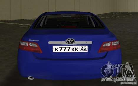 Toyota Camry 2007 for GTA Vice City back view