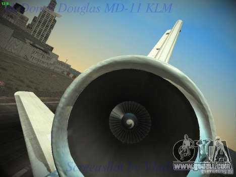 McDonnell Douglas MD-11 KLM Royal Dutch Airlines for GTA San Andreas bottom view