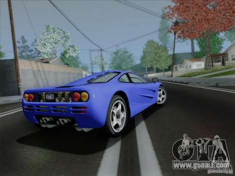 McLaren F1 1994 v1.0.0 for GTA San Andreas back view