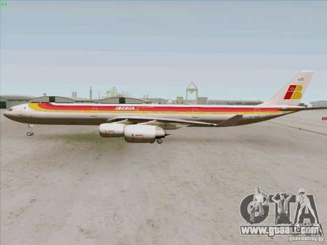 Airbus A-340-600 Iberia for GTA San Andreas right view