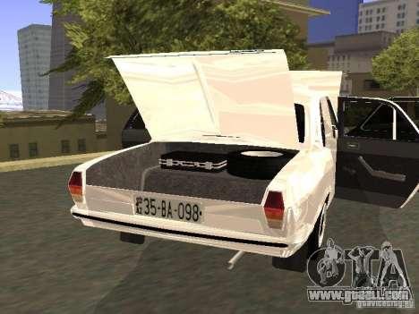 GAZ 24-10 for GTA San Andreas inner view