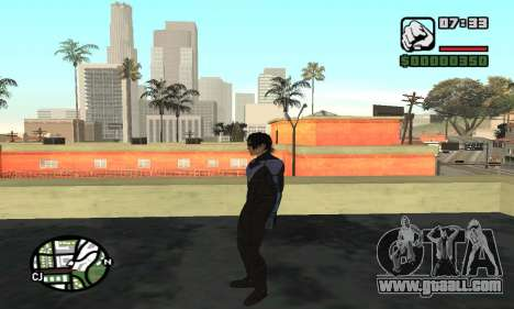 Nightwing skin for GTA San Andreas fifth screenshot
